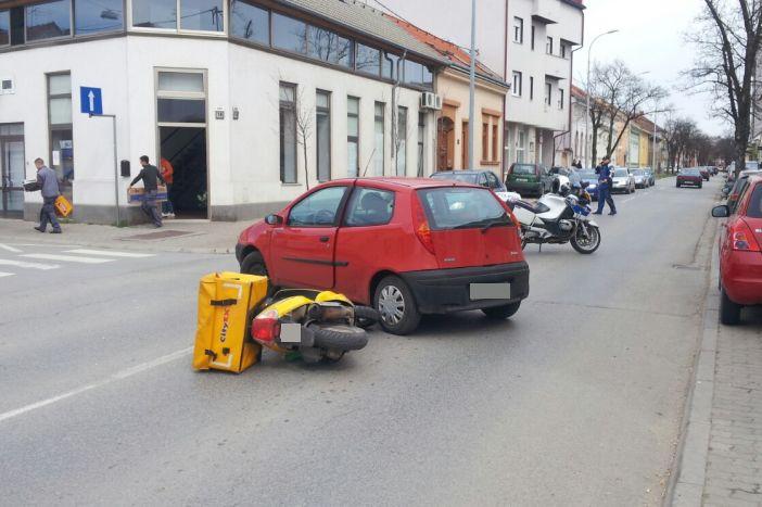 U prometnoj nezgodi u Zrinskoj ulici stradao motociklist