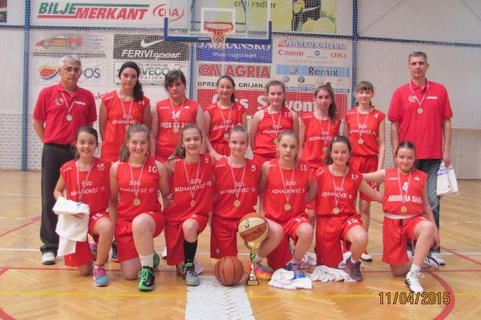 KOŠARKA Košarkašice Broda na Savi (2002. godište) prvakinje Slavonije i Baranje