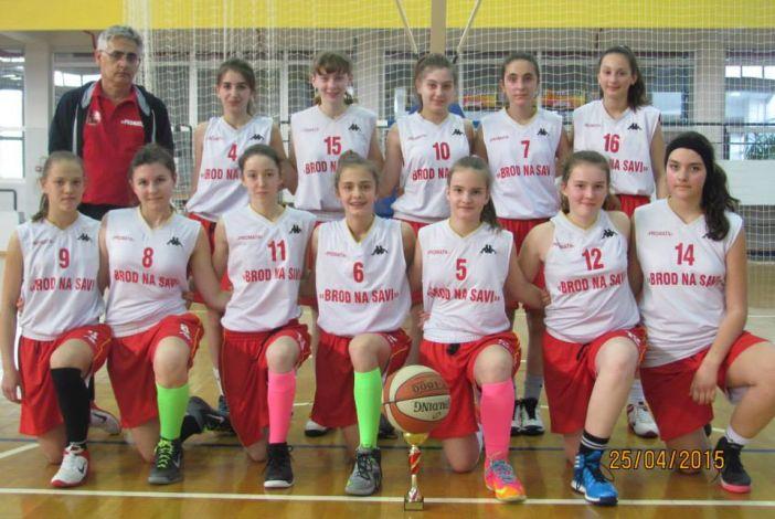 Mlađe kadetkinje Broda na Savi prvakinje Slavonije i Baranje