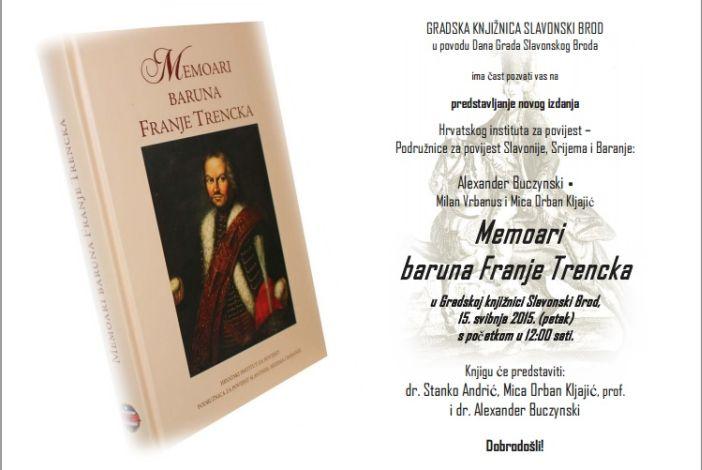 Predstavljanje knjige 'Memoari baruna Franje Trencka'