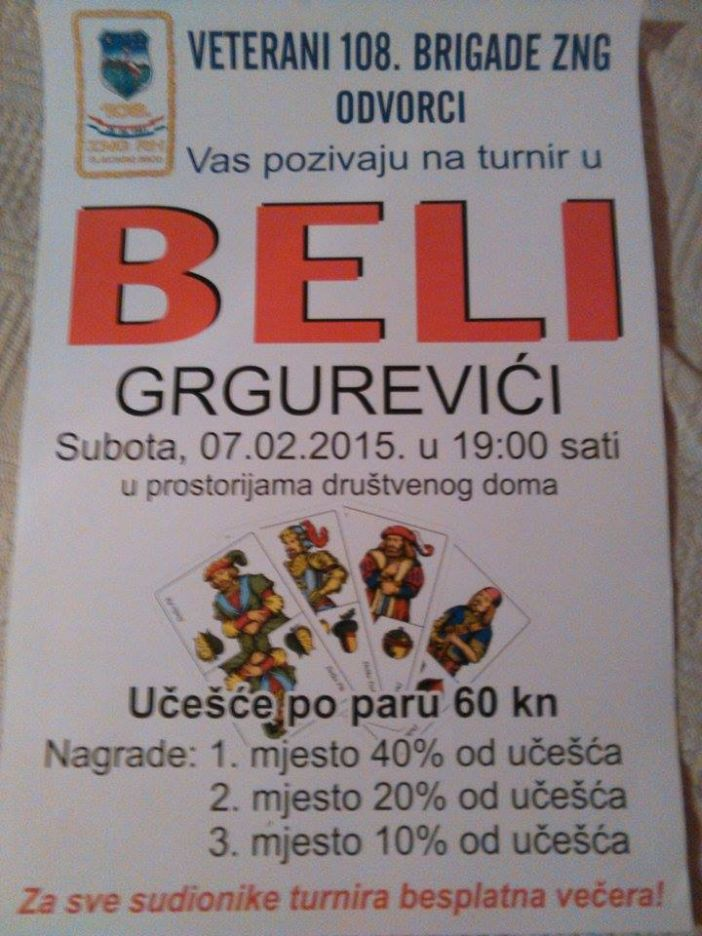 Turnir u beli u Grgurevićima