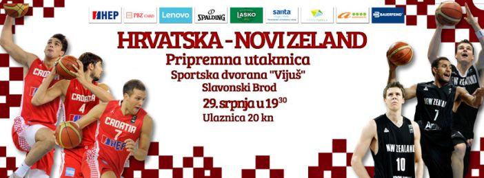 KOŠARKA Hrvatska - Novi Zeland