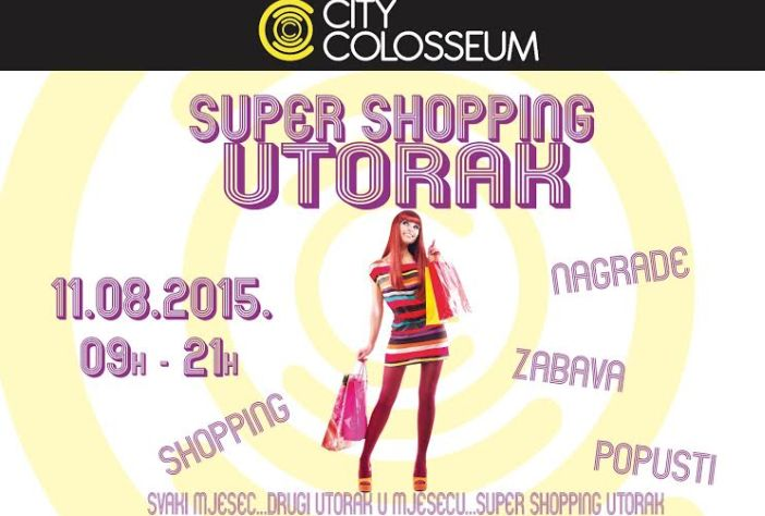 Popusti Super shopping utorka 11.08. u City Colosseumu