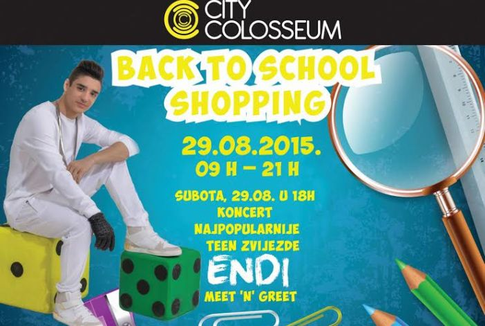 City Colosseum back to school shopping i koncert teen zvijezde ENDI