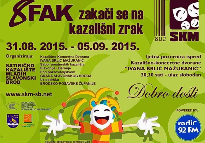 Objavljen program '8. FAK - zakači se na kazališni znak'
