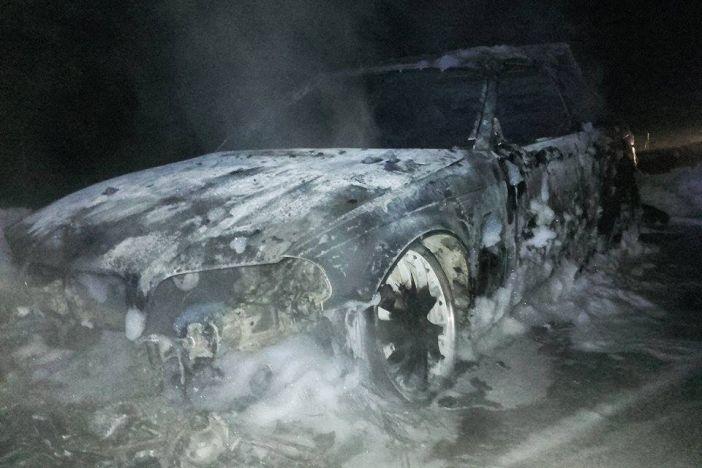 Izgorio automobil na autocesti kod Nove Gradiške