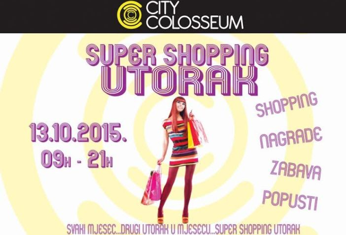 Popusti super shopping utorka 13.10. u City Colosseumu