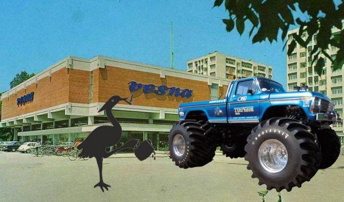 PIJANA ČAPLJA Monster truck će demolirati Vesnu, Brod-parking sutra kreće s asfaltiranjem