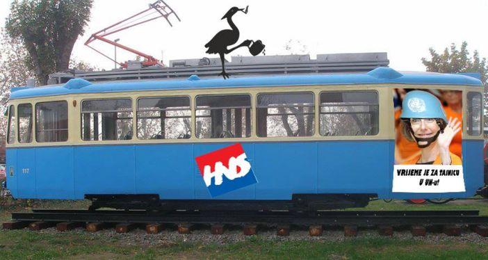 PIJANA ČAPLJA HNS održao predizborni skup u tramvaju ispred Đure