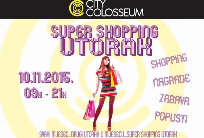 Popusti Super shopping utorka 10.11. U City Colosseumu