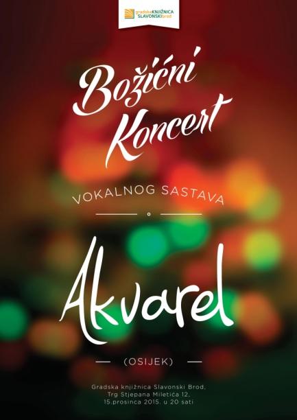 Osječki Akvarel na Božićnom koncertu Gradske knjižnice