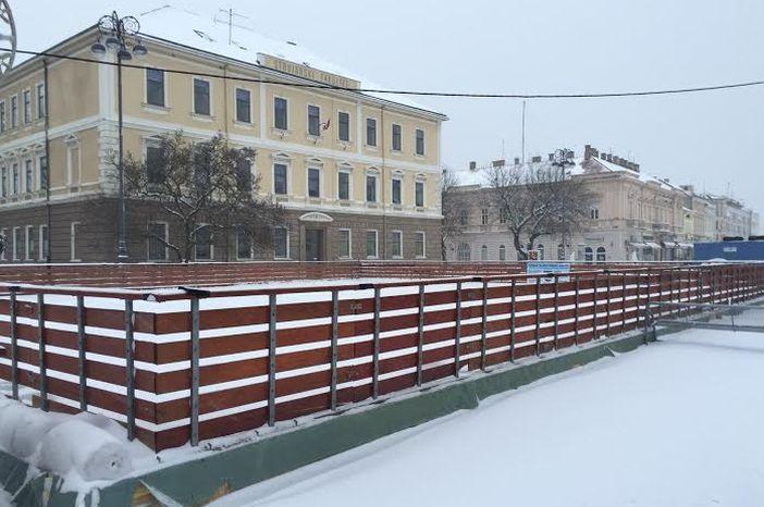 Prvi snijeg u Slavonskom Brodu