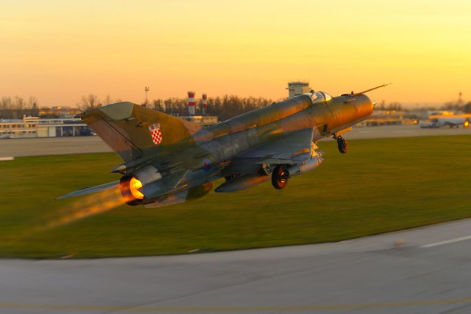 Redovite letačke aktivnosti zrakoplova MIG-21