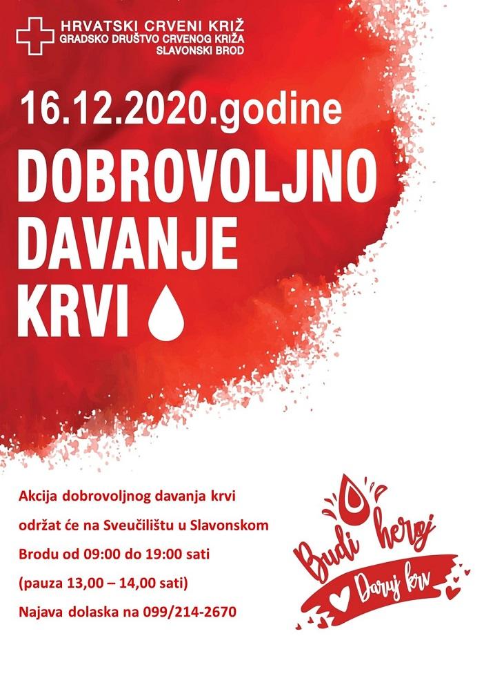 Akcija davanja krvi 09.06.2021.godine