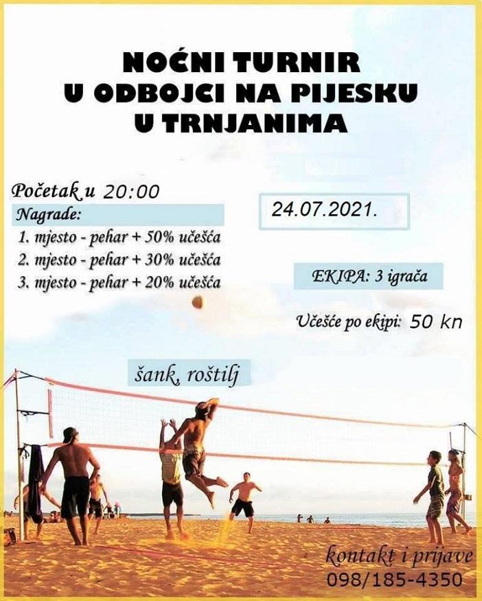 Noćni turnir u odbojci na pijesku - Trnjani 2021.
