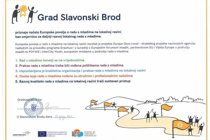 Gradonačelnik potpisao Europsku povelju o radu s mladima na lokalnoj razini