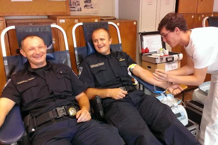 Akcija dobrovoljnog darivanja krvi u Policijskoj upravi brodsko-posavskoj