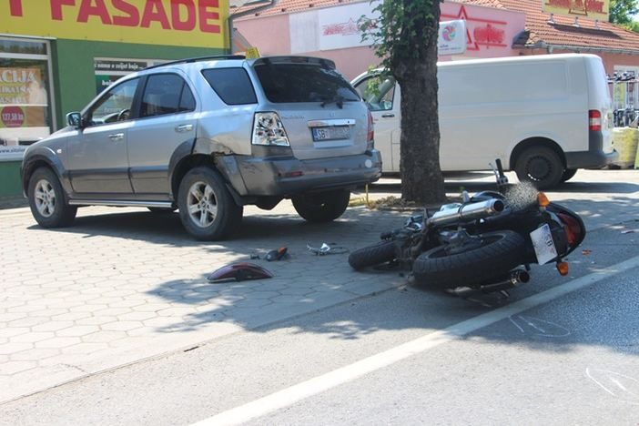 Teško ozlijeđen motociklist