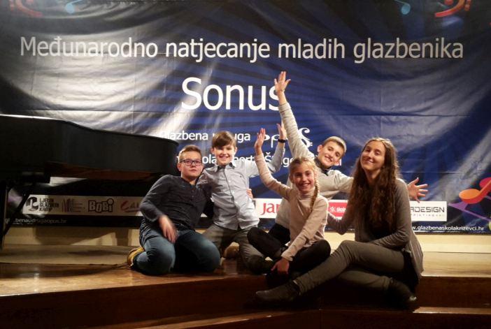 Zapaženi rezultati učenika Glazbene škole na natjecanju u Križevcima