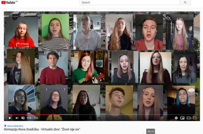 """VIDEO: Pjesma """"Život nije siv"""" novogradiških gimnazijalaca snimljena u izolaciji!"""