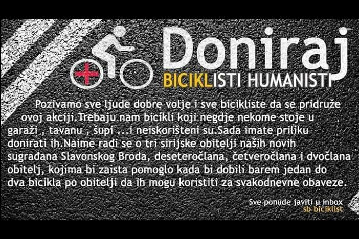 Brodski biciklisti ponovno u humanitarnoj akciji