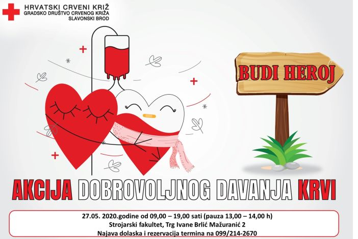 Akcija darivanja krvi na Strojarskom fakultetu u Slavonskom Brodu