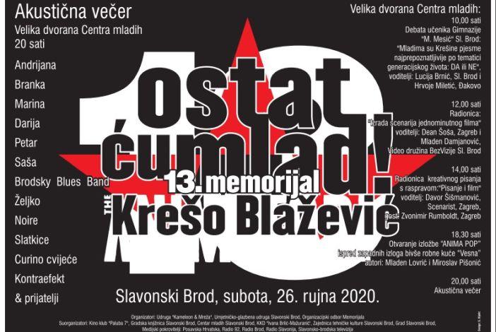 Program 13. Memorijala ''Ostat ću mlad - Krešimir Blažević'