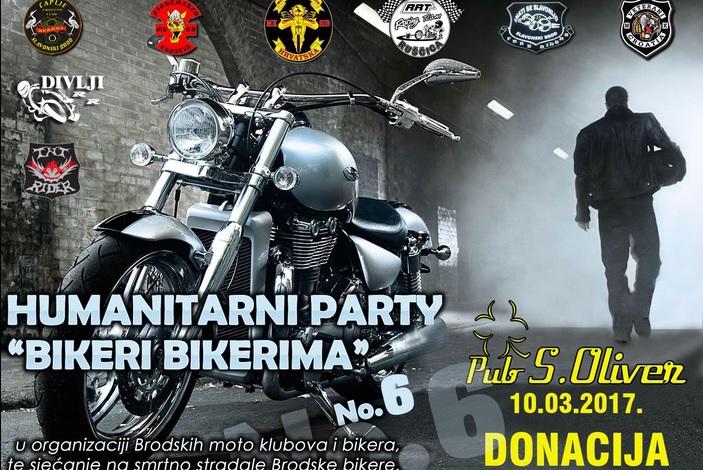 Brodski moto klubovi 10. ožujka organiziraju 6. Humanitarni party 'Bikeri bikerima'