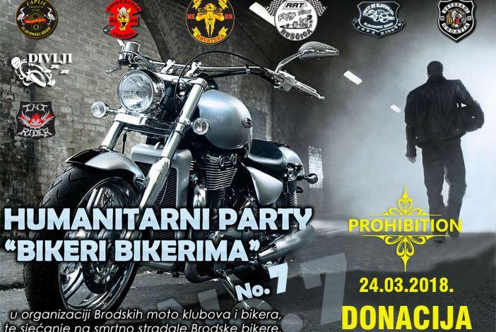 Sedmi humanitarni party 'Bikeri bikerima' 24. ožujka u 'Prohibitionu'