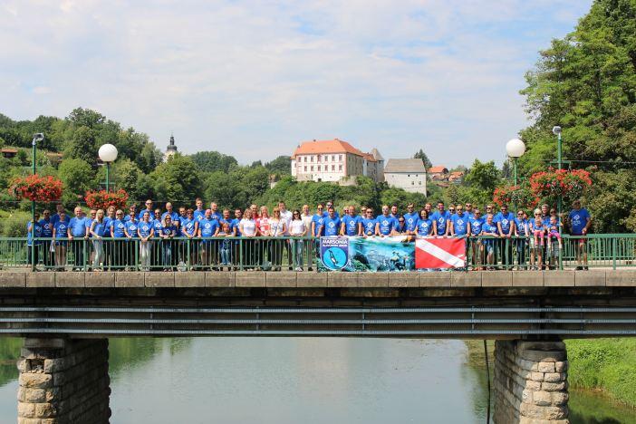 Deset brodskih ronilaca Eko akcija Kupa Ozalj 2018.