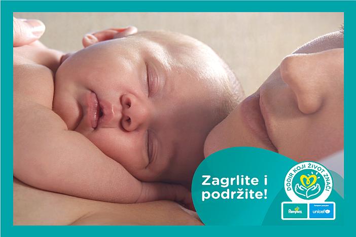 Pampers® i UNICEF pretvaraju zagrljaje u donaciju za opremanje neonatoloških odjela