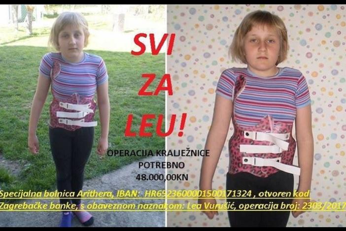 Uključite se u humanitarnu akciju za teško bolesnu djevojčicu Leu Vurušić