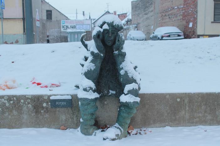 GALERIJA Slavonski Brod se probudio pod snježnim pokrivačem (8 cm)
