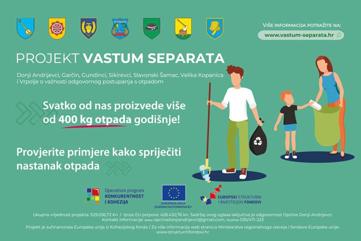 Smanjite količinu otpada koju stvarate putem projekta Vastum separata