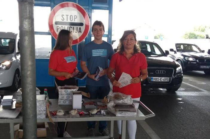 Promotivni materijali i na graničnom prijelazu u Slavonskom Brodu