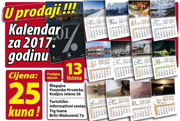 U prodaji je kalendar Turističke zajednice s motivima Slavonskog Broda