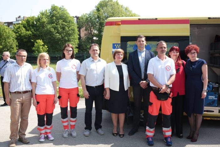 Županijski Zavod za hitnu medicinu predstavio novo vozilo za velike nesreće