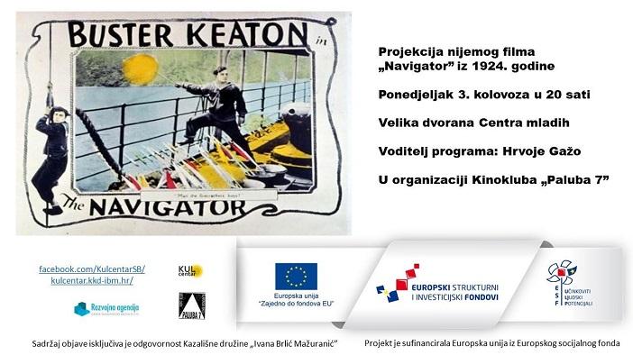 """Projekcija nijemog filma """"The Navigator"""" (1924.)"""