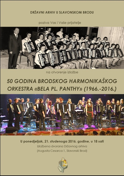 Izložba ''50 godina Brodskog harmonikaškog orkestra 'Bela pl. Panthy' (1966.-2016.)''
