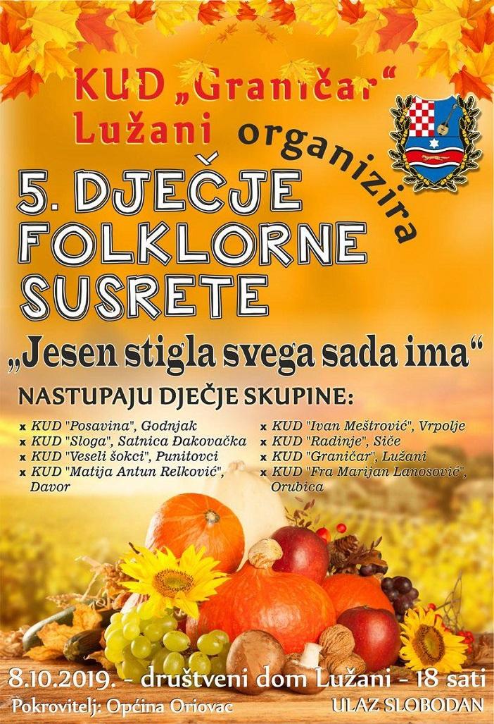 Jesen stigla svega sada ima - 5. folklorni susreti u Lužanima