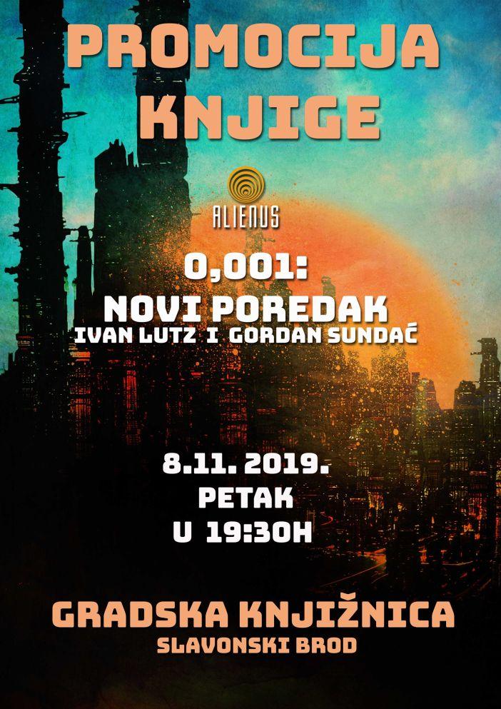 Promocija romana 0,001:Novi poredak Ivana Lutz i Gordana Sundaća