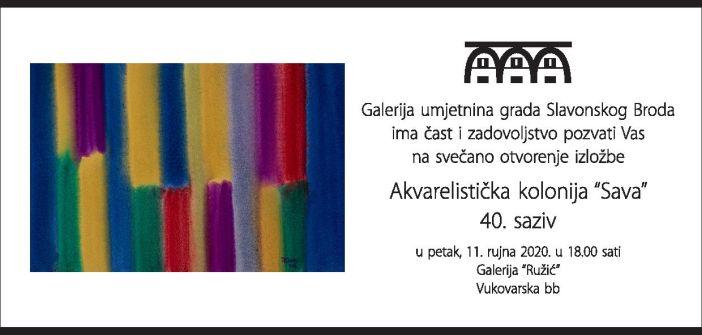 """Otvorenje izložbe 40. saziva Akvarelističke kolonije """"Sava"""""""