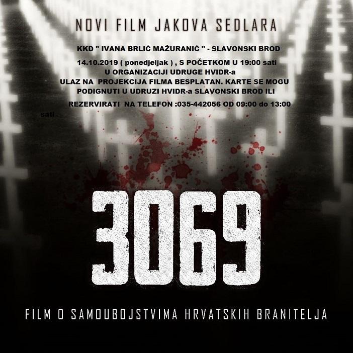 3069 - Film o samoubojstvima hrvatskih branitelja
