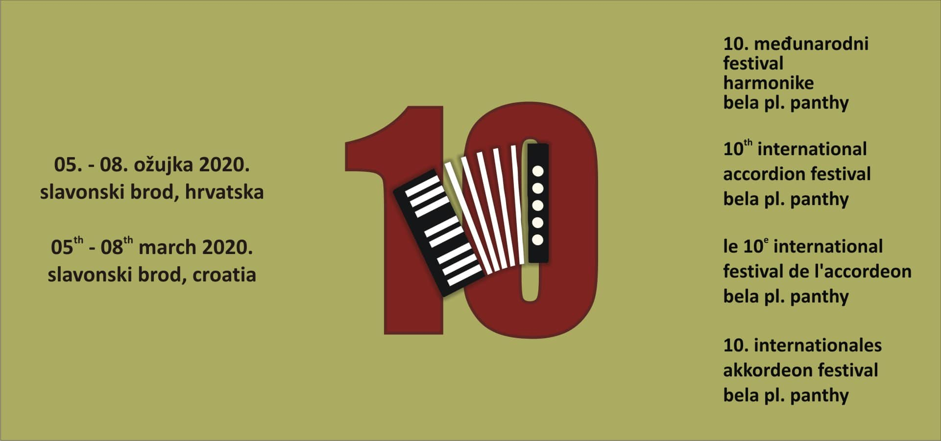 "10. Međunarodni festival harmonike ""Bella pl. Panthy"""