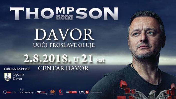 Marko Perković Thompson dolazi u Davor