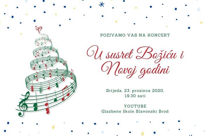 """Glazbena škola Slavonski Brod poziva vas na """"Virtualni božićni koncert"""""""