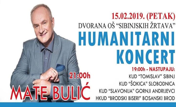 Humanitarni koncert Mate Bulića u Sibinju