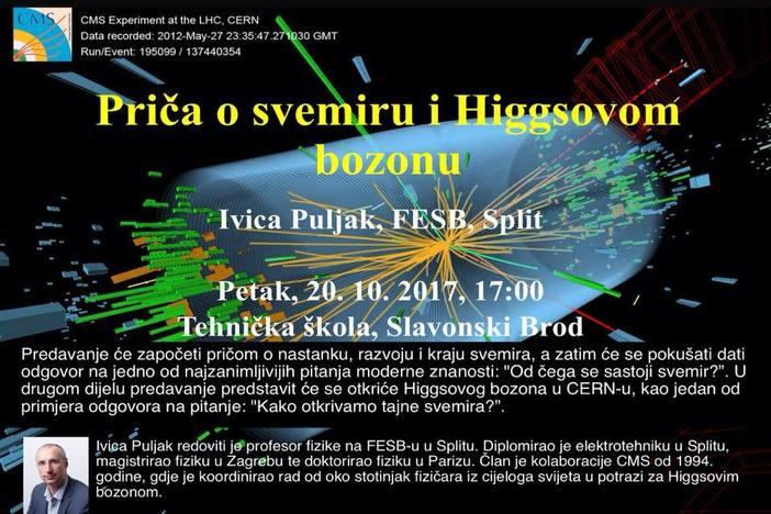 Ivica Puljak i priča o svemiru i Higgsovom bozonu u Tehničkoj školi Slavonski Brod