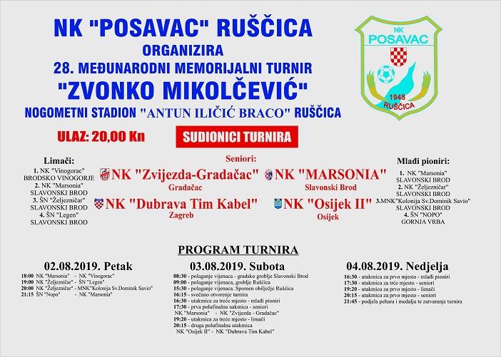 """28.međunarodni memorijalni turnir """"Zvonko Mikolčević"""" Ruščica"""
