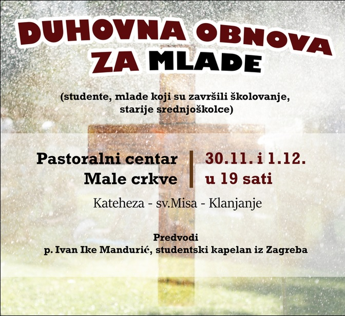 Duhovna obnova za mlade - p. Ivan Ike Mandurić
